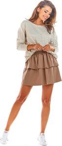 Brązowa spódnica Infinite You mini z bawełny
