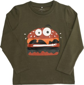 Zielona koszulka dziecięca Name it z bawełny