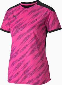 T-shirt Puma z okrągłym dekoltem w sportowym stylu z krótkim rękawem