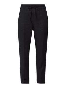 Czarne spodnie Cambio z lnu w stylu casual