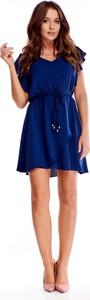 Sukienka Ptakmoda.com z dekoltem w kształcie litery v mini