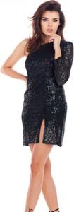 Sukienka Awama z długim rękawem z dekoltem w kształcie litery v