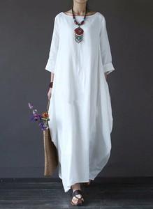 Sukienka Arilook z długim rękawem maxi w stylu boho
