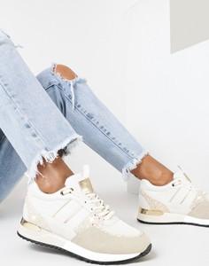 Buty sportowe born2be sznurowane z płaską podeszwą w sportowym stylu