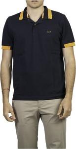 Niebieska koszulka polo Sun 68 z krótkim rękawem