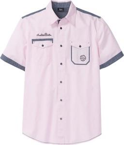 Różowa koszula bonprix bpc bonprix collection z krótkim rękawem