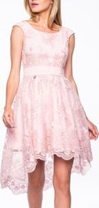 Różowa sukienka Premiera Dona z tkaniny mini
