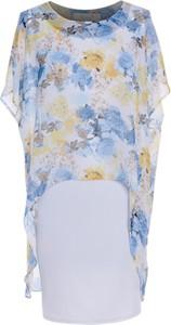 Sukienka Fokus midi dla puszystych z krótkim rękawem