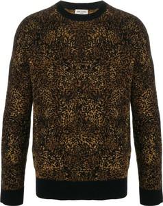 Sweter SAINT LAURENT w młodzieżowym stylu z okrągłym dekoltem z wełny