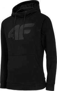 Czarna bluza 4F z dzianiny w sportowym stylu