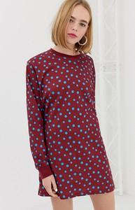 Fioletowa sukienka House Of Holland mini z dresówki