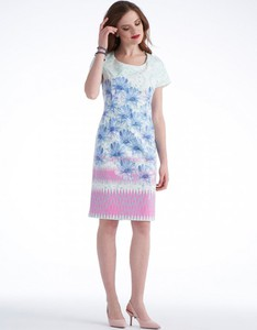 Sukienka POTIS & VERSO z okrągłym dekoltem