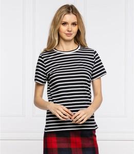 T-shirt Tommy Hilfiger z okrągłym dekoltem w stylu casual z krótkim rękawem