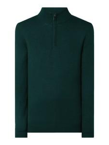 Zielony sweter Christian Berg Men z wełny w stylu casual