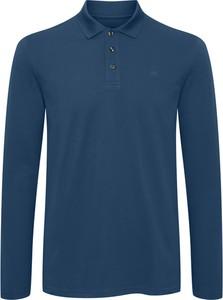 Niebieska koszulka z długim rękawem Matinique z bawełny z długim rękawem