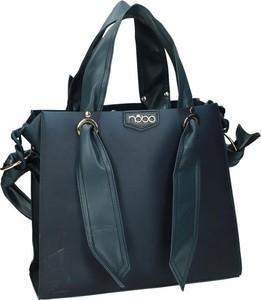Czarna torebka NOBO duża ze skóry ekologicznej w wakacyjnym stylu