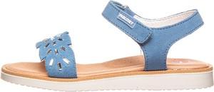 Buty dziecięce letnie Pablosky ze skóry dla dziewczynek na rzepy