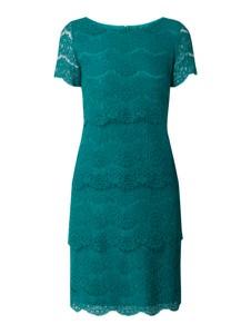 Zielona sukienka Vera Mont z krótkim rękawem mini