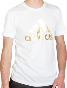 T-shirt Adidas z nadrukiem z bawełny w sportowym stylu