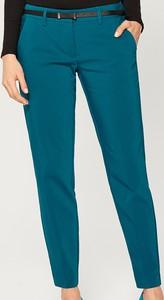 Turkusowe spodnie Mohito w stylu casual