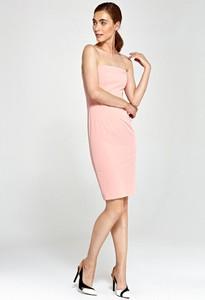 Różowa sukienka Merg prosta