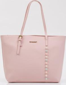 Różowa torebka Monnari na ramię duża