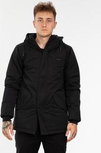 Czarny płaszcz męski Iriedaily w stylu casual z bawełny