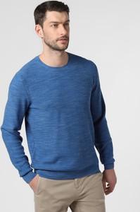 Niebieski sweter Nils Sundström z dzianiny