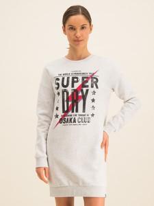 Sukienka Superdry mini w stylu casual z długim rękawem
