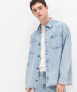 Niebieska koszula House z jeansu