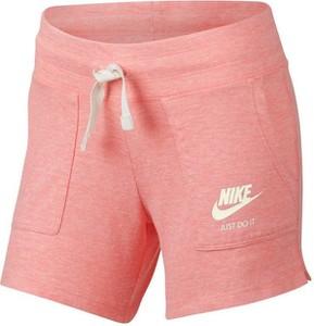 Różowe spodenki dziecięce Nike Sportswear z dżerseju