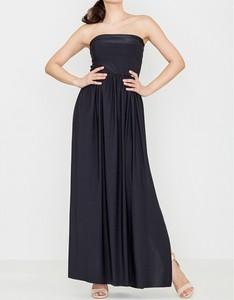Czarna sukienka LENITIF bez rękawów maxi