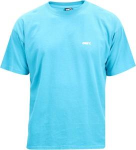 Niebieski t-shirt Obey w stylu casual