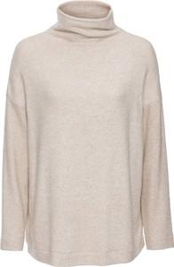 Beżowy sweter bonprix bodyflirt bez wzorów