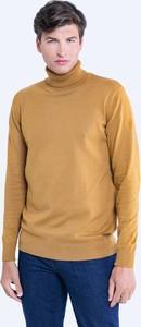 Brązowy sweter Big Star w stylu casual z golfem