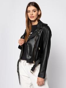 Czarna kurtka Trussardi Jeans ze skóry