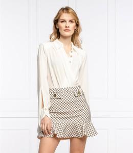 Bluzka Elisabetta Franchi z dekoltem w kształcie litery v z jedwabiu w stylu casual