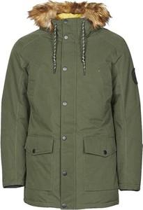 Zielona kurtka Jack & Jones długa w stylu casual