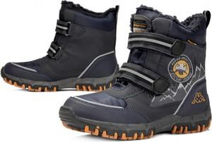 Granatowe buty dziecięce zimowe Kappa na rzepy