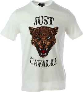 T-shirt Just Cavalli z bawełny