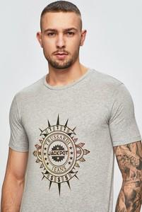 Srebrny t-shirt Trussardi Jeans