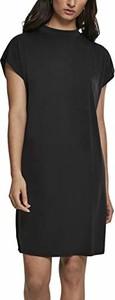 Czarna sukienka amazon.de mini z krótkim rękawem