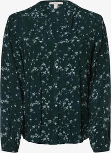 Zielona bluzka Esprit z dekoltem w kształcie litery v