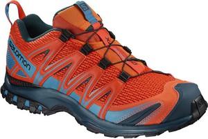 Pomarańczowe buty sportowe Salomon w sportowym stylu sznurowane