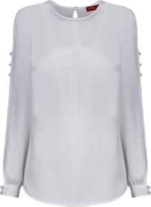 Bluzka WIBS z długim rękawem w stylu casual z okrągłym dekoltem