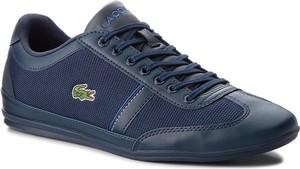 Granatowe buty sportowe Lacoste sznurowane