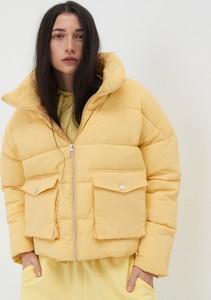 Żółta kurtka Sinsay krótka w stylu casual