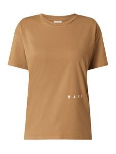 Brązowa bluzka Marc O'Polo DENIM w stylu casual z krótkim rękawem