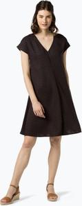 Granatowa sukienka someday. z krótkim rękawem mini w stylu casual