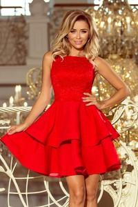 Czerwona sukienka NUMOCO bez rękawów mini